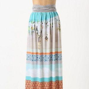 NWOT Anthropologie Inkjet Maxi Skirt Dream Daily